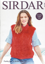8239 - Zipped Gilet Knitting Pattern